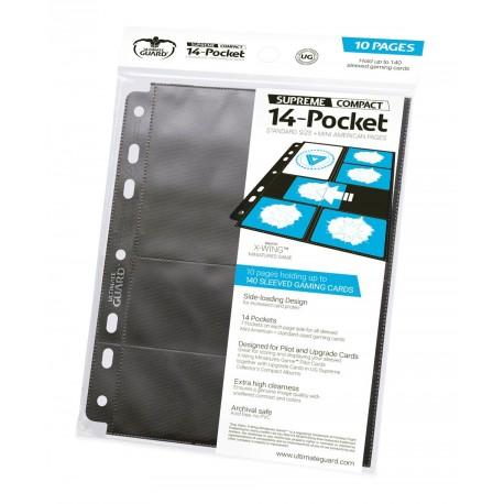 14-Pocket Compact Pages A5 - Tamaño Estándar & Mini American Negro (10 paginas) - Ultimate Guard