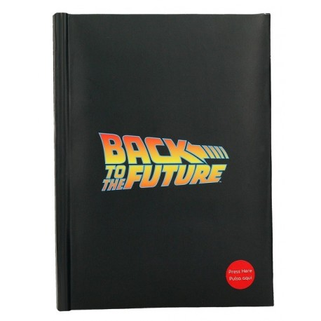 Libreta A5 con Luz LOGO BACK TO THE FUTURE - Regreso al Futuro
