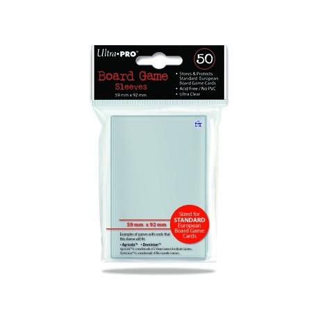 50 Fundas Protectoras Tamaño Europeo - 59 mm x 92 mm - Ultra Pro