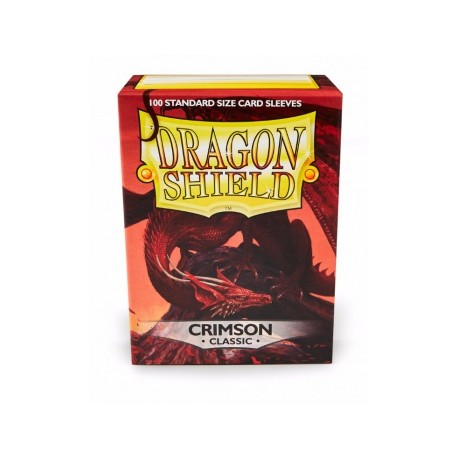Fundas Dragon Shield Crimson Classic - Carmesí (100 uds)