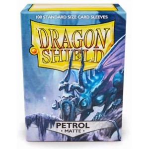 Fundas Dragon Shield Petrol Matte - Petroleo Mate (100 uds)