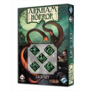 Set de dados de Arkham Horror - Negro - Q-Workshop