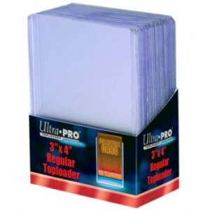 "Comprar 25 Fundas Rígidas transparentes 3"" X 4"" Clear Regular Toploader Ultra Pro"