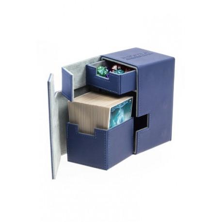 Caja de Cartas Tamaño Estándar XenoSkin Azul - Flip´n´Tray Deck Case 100+ - Ultimate Guard