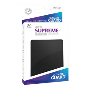 Fundas de Cartas Tamaño Estándar Negro Mate (80) - Ultimate Guard Supreme UX
