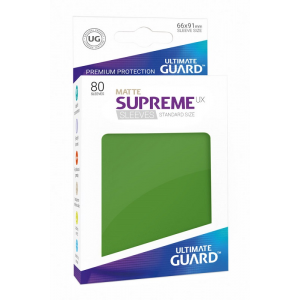 Fundas de Cartas Tamaño Estándar Verde Mate (80) - Ultimate Guard Supreme UX
