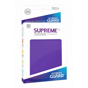 Fundas de Cartas Tamaño Estándar Violeta (80) - Ultimate Guard Supreme UX