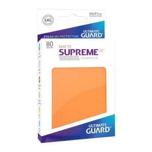 Fundas de Cartas Tamaño Estándar Naranja Mate (80) - Ultimate Guard Supreme UX