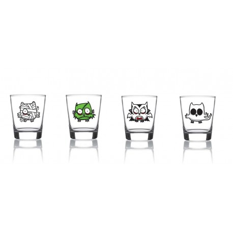 Set 4 Vasos Licor Monsters - Voodoo Island