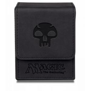 Caja Flip Top - Mana Negro - Tacto Piel Acabado Mate - Ultra Pro