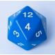Dado Contador Gigante D20 de 55mm - Azul