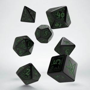 Dados D6 Arkham Horror Negro y Verde (5)