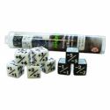 Pack Dados Positivo/Negativo D6 de 16 mm (8 dados)