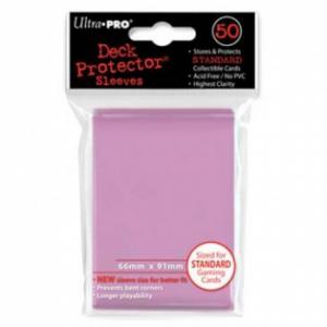 Funda Rosa tamaño Estandar 66 x 91 mm (50 fundas) - Ultra Pro