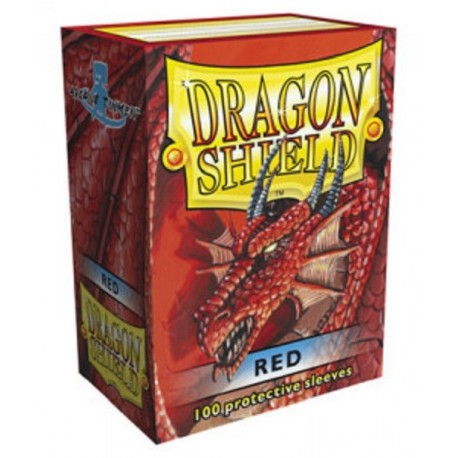 Fundas Dragon Shield - Rojas (100 uds)