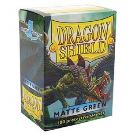 Fundas Dragon Shield - Verde Mate (100 uds)