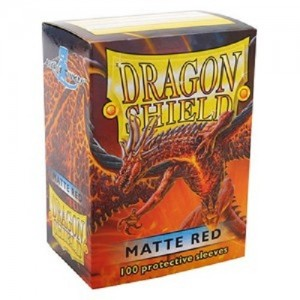 Fundas Dragon Shield - Rojo Mate (100 uds)
