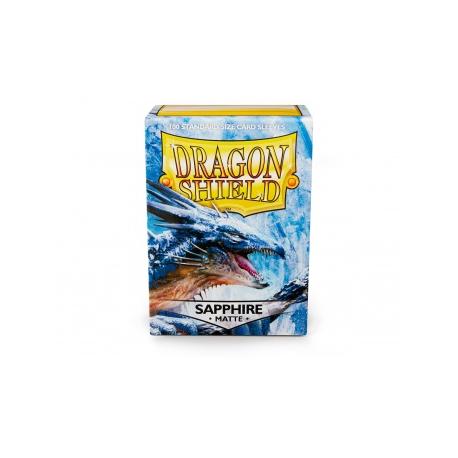 Fundas Dragon Shield Matte Sapphire - Zafiro Mate (100 uds)