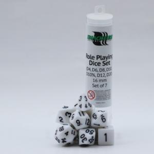 Comprar Set dados Rol - Blanco (7 dados) - Blackfire Dice