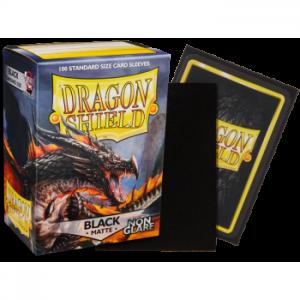 Fundas Dragon Shield Matte - Non-glare - Black Amina - Negra (100 uds)