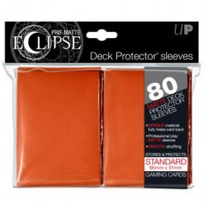 Fundas PRO-Matte Eclipse Naranjas - 66 x 91 mm (80 fundas) - Ultra Pro
