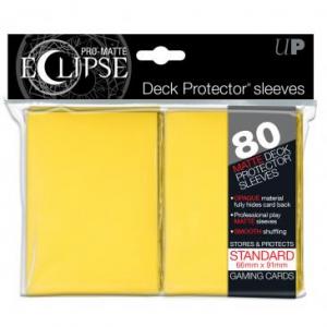 Fundas PRO-Matte Eclipse Amarillas - 66 x 91 mm (80 fundas) - Ultra Pro