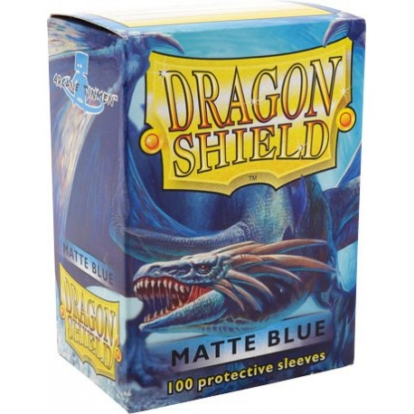 Fundas Dragon Shield - Azul Mate (100 uds)