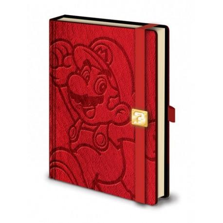Super Mario Libreta Premium A5 Mario
