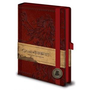 Juego de Tronos Libreta Premium A5 Lannister