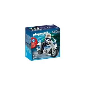 Moto de Policía - 5185 - Playmobil