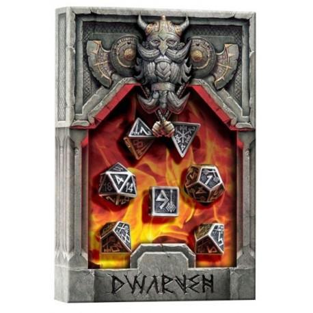 Set de Dados de Metal - Metal Dwarven Dice Set (7)
