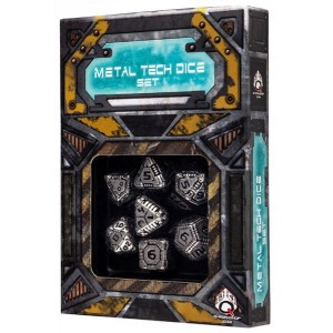 Comprar Metal Tech Dice Set (7) Q-Workshop