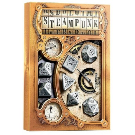 Comprar Set de Dados de Metal - Metal Steampunk Dice Set (7) Q-workshop