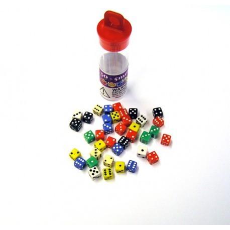 Comprar Tubo de 30 dados de 5mm Little Guys - Koplow