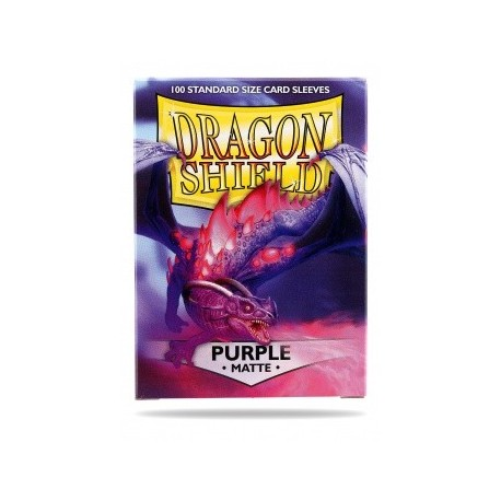 Fundas Dragon Shield Matte Purple - Morado Mate (100 uds)